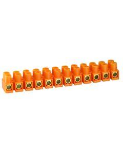 Listwa zaciskowa gwintowa termoplastyczna LTF12-10.0 10,0mm2 12 torów T55C pomarańczowy