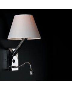 Kinkiet, lampa ścienna z abażurem Orlando 5103WA/WHNM Maxlight Biała