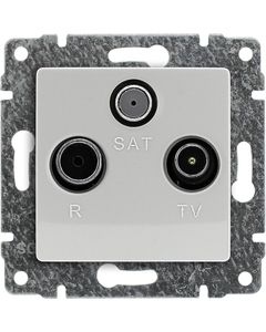 Gniazdo antenowe RTV-SAT przelotowe biały KOS Vena