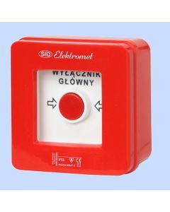Wyłącznik pożarowy alarmowy natynkowy WP-1S