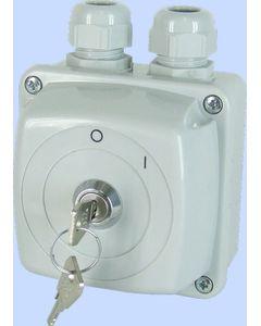 Łącznik krzywkowy ŁUK E25-13 załączany kluczykiem w obudowie