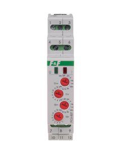Przekaźnik czasowy PCU-507 TH 1mod 2x8A 230V 2-funkcje, regul. czas pracy i przerwy 0,1s-5...