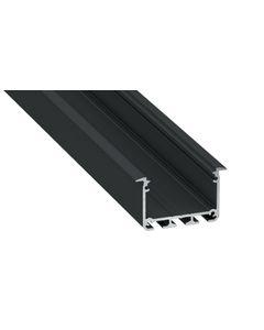 Profil led architektoniczny D3 43x30mm aluminiowy czarny 2m