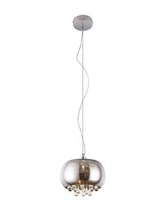 Lampa wisząca, żyrandol szklana z kryształami Moonlight P0076-01D Maxlight Chrom