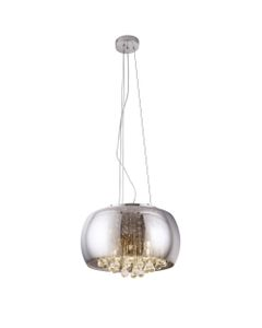 Lampa wisząca, żyrandol szklana z kryształami Moonlight P0076-05L Maxlight Chrom