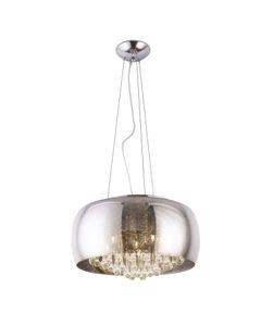 Lampa wisząca, żyrandol szklana z kryształami Moonlight P0076-06X Maxlight Chrom